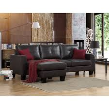 Bonded Leather Sofa Carrera Brown Bonded Leather Sofa With Reversible Chaise