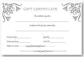online gift certificates free printable gift certificates for business free printable gift
