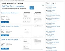 plan disaster recovery plan template