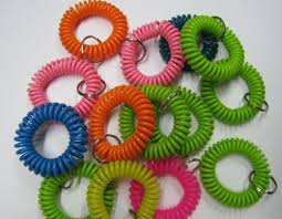 color key rings images Various colors plastic round spring spiral wrist coil key chain jpg