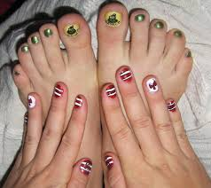 nail art beautiful red toe nails with white flower nail art