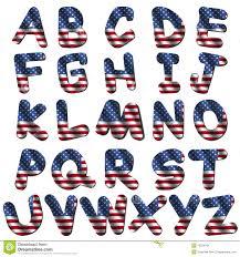 american flag font stock image image 10324781