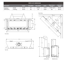 Standard Fireplace Dimensions by Cml 58 Contemporary Linear Dv Gas Fireplace Stellar Hearth Products