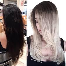 silver brown hair makeover dark brown to silver blonde melt gorgeous hair