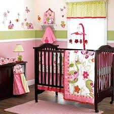 photo outstanding pink and grey crib bedding set baby