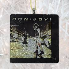 bon jovi runaway album cover glass ornament bbj handmade pop