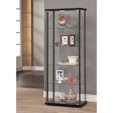 Temporary Wall Ideas by Curio Cabinet Black Glass Door Curio Cabinet Small With