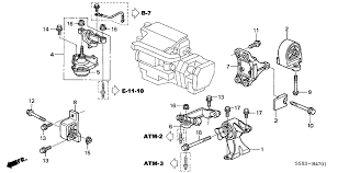 honda civic 4 door mx hybrid kl cvt engine mount