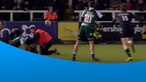 sam harrison wins a scrum for leicester whilst injured youtube