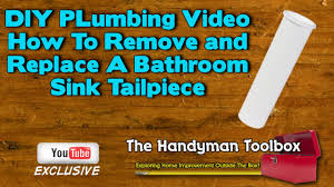 diy plumbing video how to remove and install a bathroom sink
