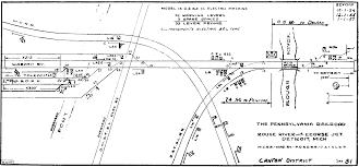 Mansfield Ohio Map by Prr Interlocking Diagrams Toledo Junction To Detroit Main Line