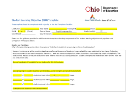 student learning objective slo template date 8 25 2014 this