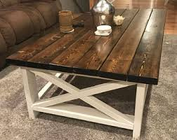 farmhouse coffee and end tables coffee table styling etsy
