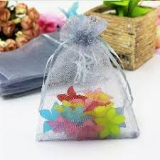 mesh gift bags 50pcs lot small floral cotton drawstring bag for packaging 10x14cm