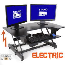 flexpro power 36 inch electric standing desk stand steady