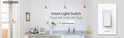smart light switch homekit koogeek smart wifi light switch for apple homekit with siri remote