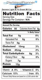 dannon light and fit nutrition dannon light and fit greek yogurt nutrition label iron blog