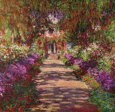 Claude Monet Blind Pathway Painting A Pathway In Monets Garden Giverny By Claude