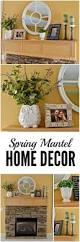 Green And Purple Home Decor by Spring Mantel Decor Ideas Green And Purple Accents