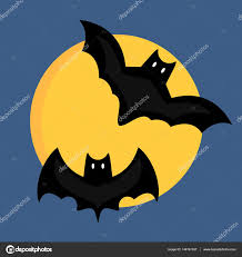 bat cartoon flying wildlife mammal symbol spooky horror animal and