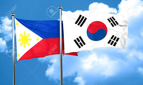 Philippines Flag Philippines Flag With South Korea Flag 3d Rendering Stock Photo