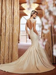 impressive backless lace designed bridal dress weddings eve