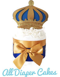 Blue And Gold Baby Shower Decorations by Set Of 4 Prince Mini Diaper Cakes Prince Theme Baby Shower