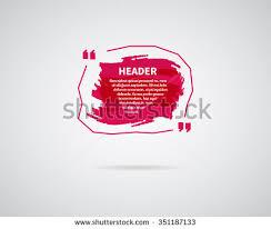 watercolor ink splash quote blank templates stock vector 359373785