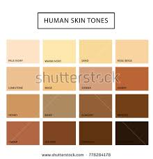 vector skin tone tutorial human skin tone set skin color stock vector 778284178 shutterstock