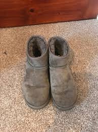 s grey ankle ugg boots s grey ankle height ugg boots uk size 5 in