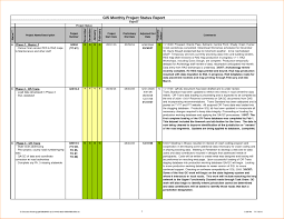 project management status report template excel best template