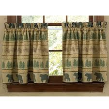 bear tracks curtain tiers primitive home decors