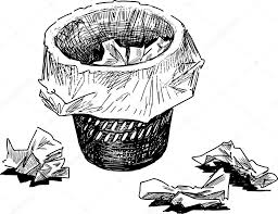 wastepaper basket sketch u2014 stock vector samakarov mail ru 104975682