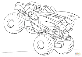 batman monster truck coloring page free printable coloring pages