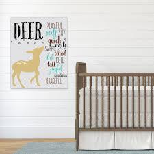 Deer Nursery Decor Deer Nursery Word Design Woodland Nursery Decor