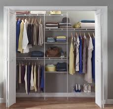 closet organizer kit white color 5 feet to 8 feet closetmaid