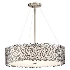 Pewter Ceiling Lights Kichler 43347clp Silver Coral Modern Classic Pewter Finish 22