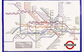 London Subway Map by Using The Science Of Peripheral Vision To Test The Tube Map
