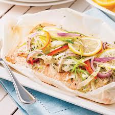 recette de cuisine saumon saumon au beurre citronné en papillote recettes cuisine et