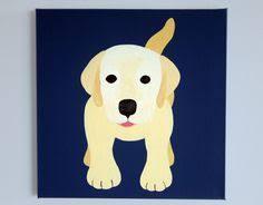 sale 8x10 striped puppy dog silhouette print apple green