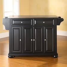 kitchen islands stainless steel top darby home co pottstown kitchen island with stainless steel top