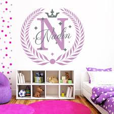 compare prices on monogram wall decal online shopping buy low monogram name wall decals fairy decal nursery baby girl room bedroom decor custom name stickers star