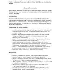 online trainer cover letter