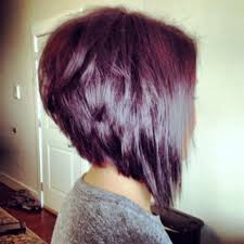 angled bob front and back view popular long hairstyle idea