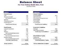 Balance Sheet Template Balance Sheet Template Free Layout Format