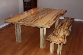 Beetle Kill Pine Dining Room Table And Bench By JStretch - Pine dining room sets
