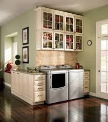 shallow wall cabinet laundry room traditional with green wall