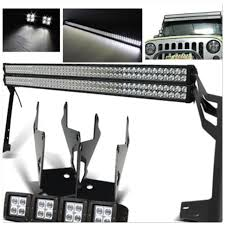 jeep jk light bar brackets jeep jk pack 5 07 2016 double 52 light bars 4 pods and all