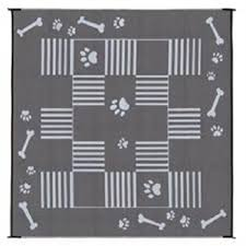 Rv Patio Mats Wholesale Ming U0027s Mark Dog Bone Black Rv Patio Mat 9 U0027x9 U0027 Reversible Mats Can
