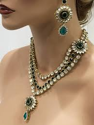 indian bridal necklace images Flower inspired traditional indian wedding bridal kundan jewelry jpg